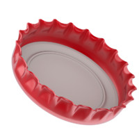 bottle cap metal 3d obj