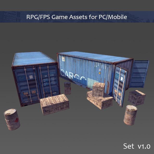 3d rpg fps assets pc model