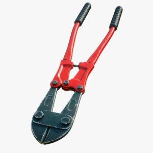 4k bolt cutter 3d model