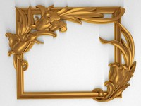 carved decor scroll 3ds
