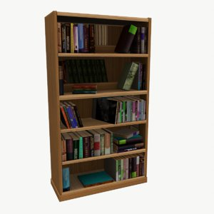 3d bookcase oly