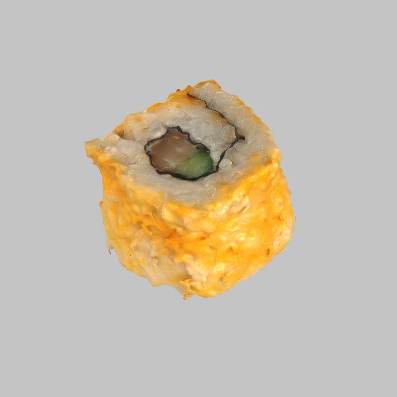 3d model salmon california sushi