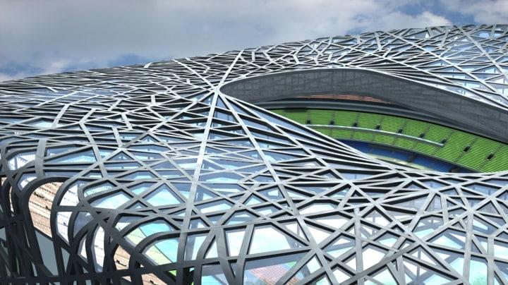 3d model beijing national stadium bird s