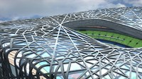 3d model beijing national stadium bird s