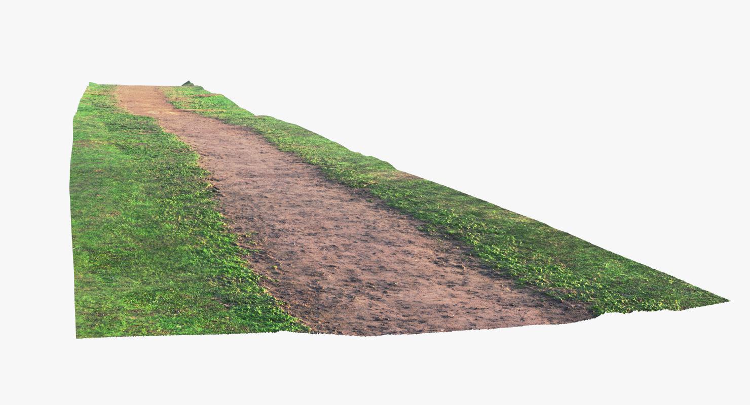 dirt path 3d model