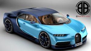 3d bugatti chiron 2017 model