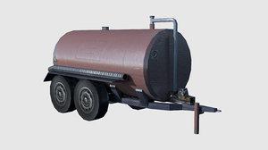 3d trailer cistern ready