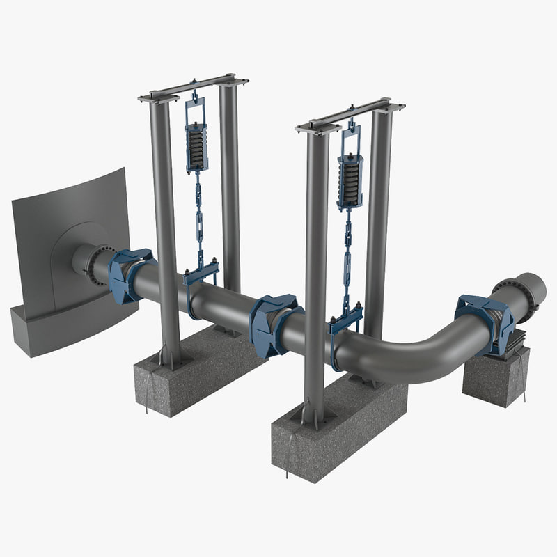 oil pipe holders 3d model