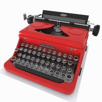 3d model typewriter toon