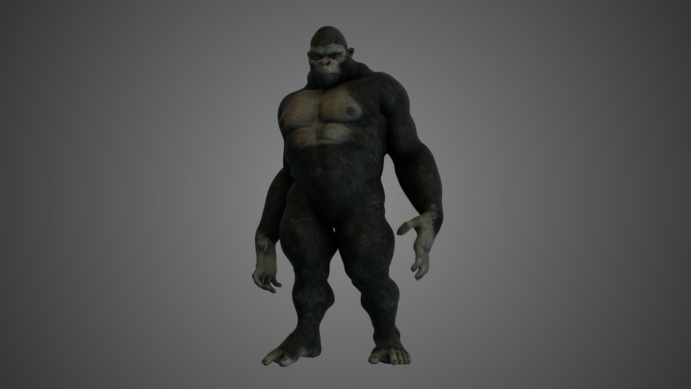 3d gorilla animations model