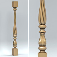 3d model baluster cnc intagli3d