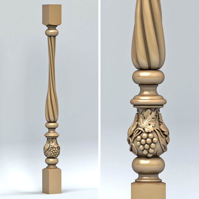 baluster cnc intagli3d 3d model