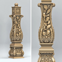 newel post 3d fbx