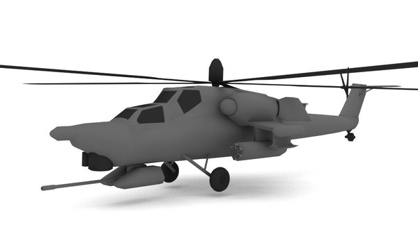 3d model blender mig helicopter