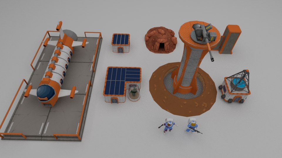 free fbx mode martian colony pack