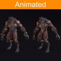 character werewolf 3d x