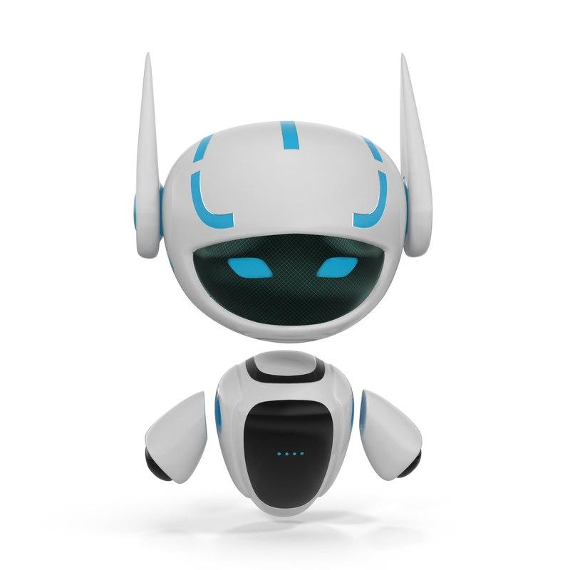 robot happy 3d max