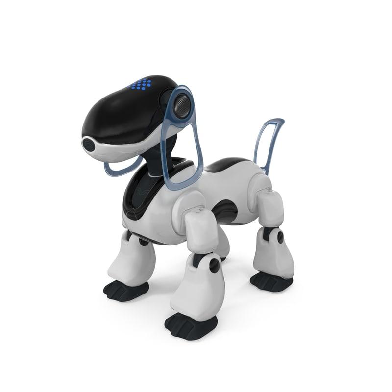 robot happy obj