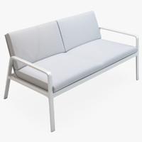 3d model kettal park life sofa