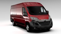 citroen jumper van l4h2 3d model