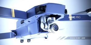 3d model dji mavic pro quadcopter