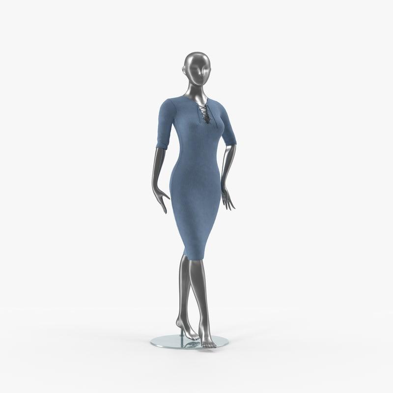 mannequin dress 3d max