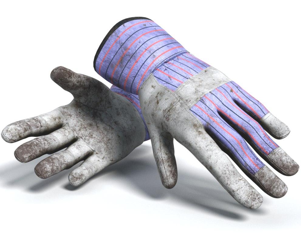 3d model work gloves