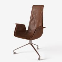 designed fabricius kastholm tulip chair 3d model