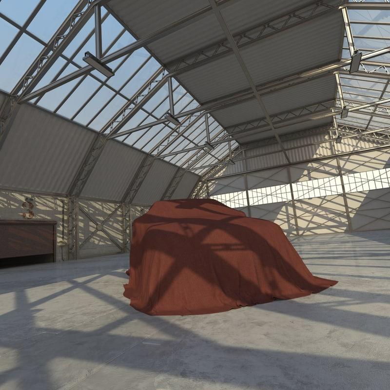 warehouse hangar interior max
