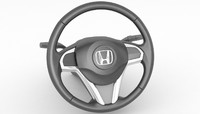 honda steering wheel 3d model