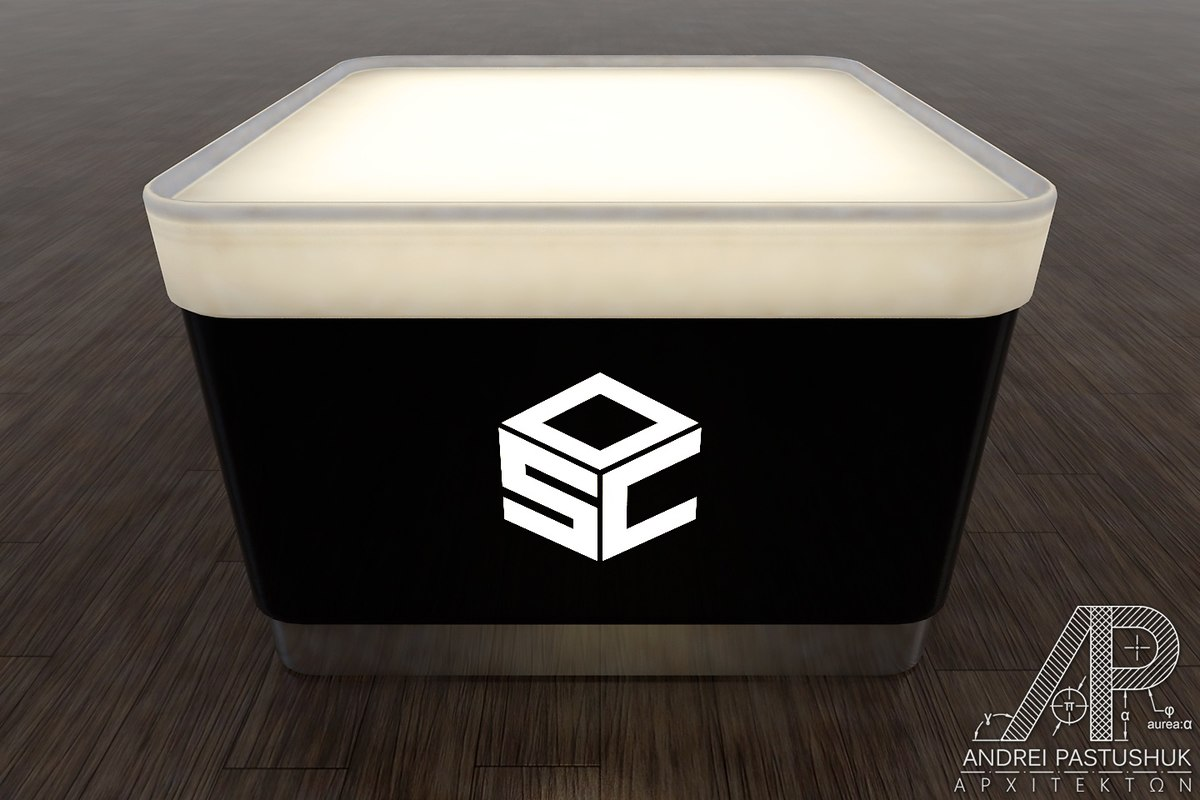 coffee table nightclubs 3d model