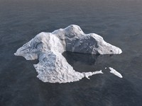 c4d iceberg polar ocean