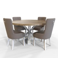 3d dining table lyon chair model