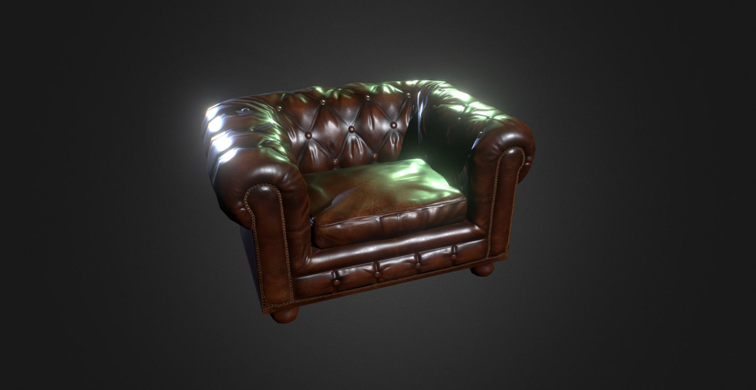 x leather chair