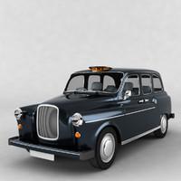 london cab 3d model