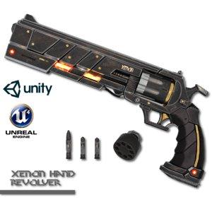 3d xenon hand revolver model