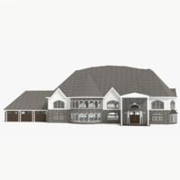 3d story lake house model