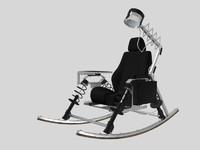 3d rocking chair dondolo enrico
