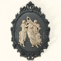 Camea Three Graces 3d stl model cnc machine