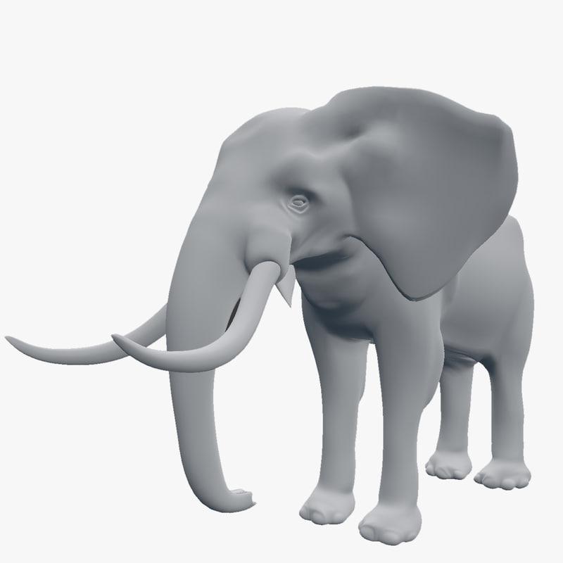 3d elephant african afric