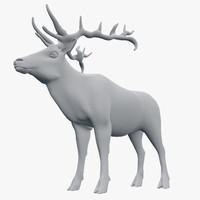 deer elk cervus 3d 3ds
