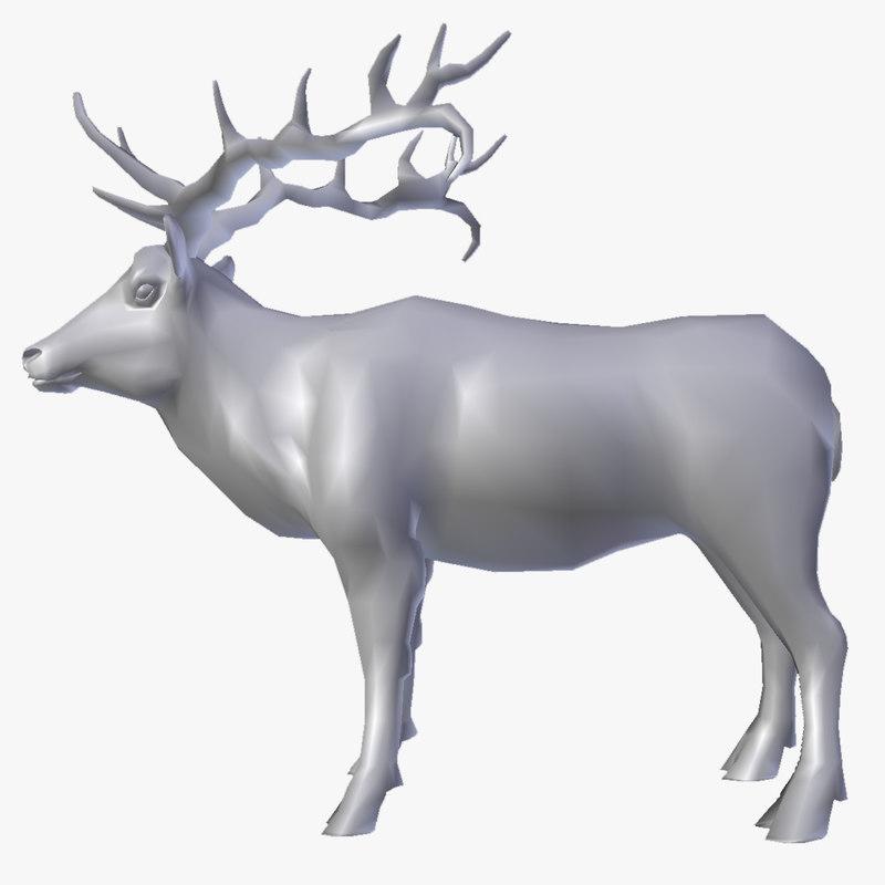 free 3ds mode deer elk