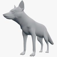 3d fox vulpes model
