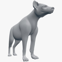 3d model hyena crocuta