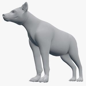 3d 3ds hyena crocuta
