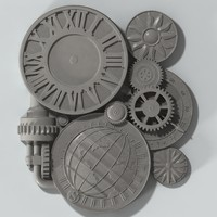 Clock 3d stl model cnc machine