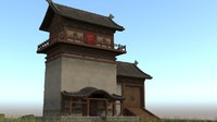 japanese ancient architecture residence 3d ma