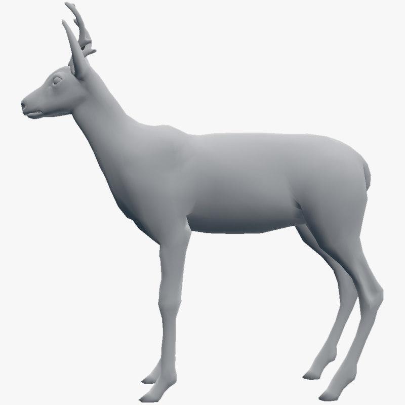 3d roe deer model
