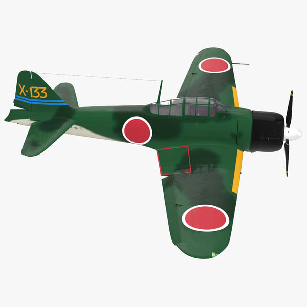 3d fighter aircraft a6m zero