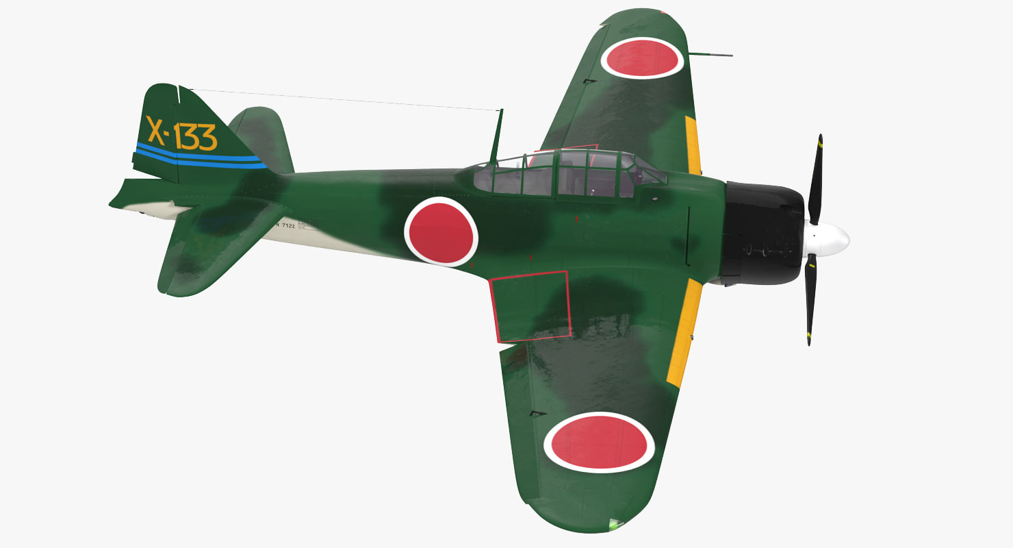 3d fighter aircraft a6m zero